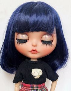 Custom Blythe Doll wig with scalp Doll Wigs, Ooak Dolls, Blythe Dolls, Hair Scalp, Disney Dolls, Big Eyes, Baby Dolls, Doll Clothes, Halloween Face Makeup