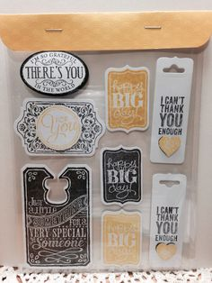 Gift embellishments using Stampin ups Chalk Talk stamp set.