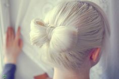 bows are everywhere! on presents, jewellery, in your hair, and made out of your hair... #hair #bun #bow