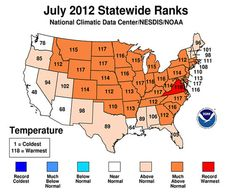 NOAA: July 2012 hottest month on record for contiguous United States