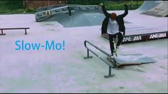 Straight No-Comply Over Obstacle || [Slow-mo Skateboarding]