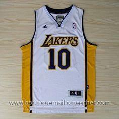 maillot nba pas cher Los Angeles Lakers Nash #10 Blanc nouveaux tissu 22,99€