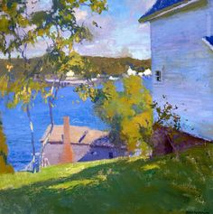 """American Legacy Fine Arts presents """" Both Bay, Maine' a painting by Daniel W. Pinkham."""