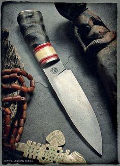 Iron Art, Knife Handles, Kitchen Knives, Outdoor Gear, Tools, Badass, Weapons, Blade, Gun
