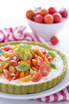 Tarte di pesto, con ricotta e pomodori | MIEL & RICOTTA