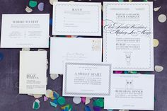 invite & inserts | motifs repeated on different cards