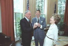 Frank Sinatra with the Reagan's