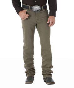 Brown Premium Performance Cowboy Slim-Fit Jeans - Men's Regular