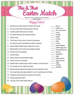 Remarkable image throughout easter trivia printable