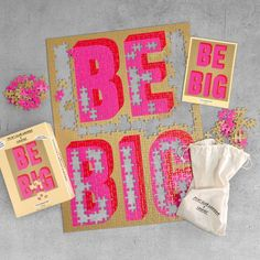 Luckies London x Print Club - Be Big Puzzle Jigsaw   Yes I Want It West London, Online Galerie, Cotton Box, Workshop, London Clubs, Learn A New Skill, Find Objects, Creative Outlet, Puzzle Pieces