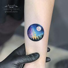 "cutelittletattoos: ""By Tansel Darko, done at Darko Ink Concept, Istanbul. ttoo… cutelittletattoos: ""By Tansel Darko, done at Darko Ink Concept,. Sky Tattoos, Circle Tattoos, Neue Tattoos, Mini Tattoos, Body Art Tattoos, Small Tattoos, Galaxy Tattoos, Orion Tattoo, Tattoo Ink"