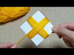 Super Easy Flower Craft Ideas with Woolen - Hand Embroidery Amazing Trick - Wool Flower Design - YouTube Fabric Flower Pins, Yarn Flowers, Crochet Flowers, Hand Embroidery Flowers, Hand Embroidery Designs, Beaded Embroidery, Woolen Craft, Easy Yarn Crafts, Woolen Flower