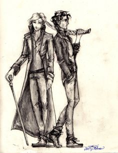 parabatai by cherryclaires.deviantart.com on @deviantART Jem Carstairs and Will Herondale