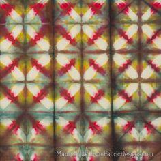 Multicolored Clamp Resist Shibori by Maureen Jakubson Shibori Fabric, Shibori Tie Dye, Fabric Painting, Fabric Art, Diy Tie Dye Designs, Natural Dye Fabric, Natural Dyeing, Tie Dye Crafts, Art Journal Techniques