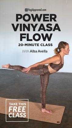 Sweet and Sweaty Power Vinyasa Flow (Free Class) Power Yoga Flow (Free Yoga Class) Yoga Flow, Yoga Meditation, Namaste Yoga, Zen Yoga, Yoga Pilates, Pilates Workout, Yoga Fitness, Ashtanga Yoga, Vinyasa Yoga