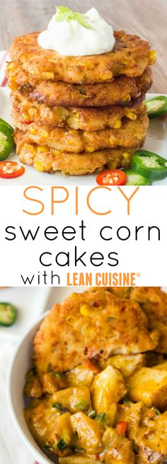 Spicy Sweet Corn Cakes make a great side dish for any meal when time is an issue! #ad #FeedYourFoodie