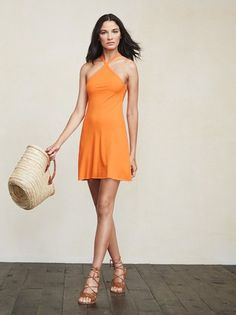 Viva la mini dress. The Vail Dress is one of those things you're going to want to live in all summer. https://www.thereformation.com/products/vail-dress-tangerine?utm_source=pinterest&utm_medium=organic&utm_campaign=PinterestOwnedPins