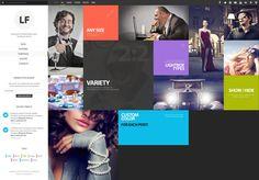 LiquidFolio - Portfolio Premium WordPress Theme by Sam giant, via Behance