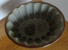 Antique Late 1800s English Stoneware Aspic Lion Mold