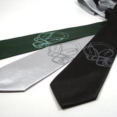 Headphones Necktie Microfiber necktie in three tie by projector. $30.00, via Etsy.