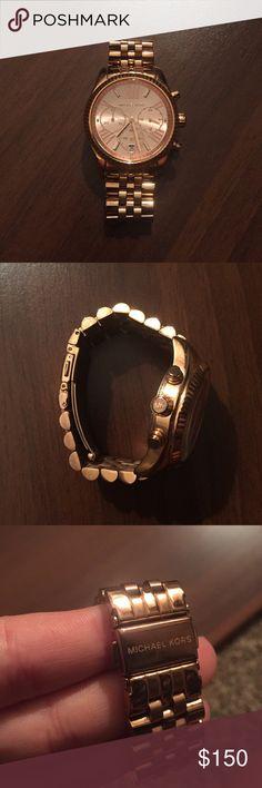 Michael Kors Rose Gold Watch Great condition! Beautiful watch. Needs new battery. Michael Kors Jewelry Bracelets