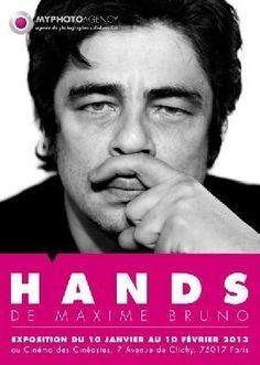 """L' 'exposition """"Hands"""" qui va se tenir au Cinéma des Cinéastes à partir du 11 janvier 2013 réunit des portraits de stars d'un genre particulier… Le photographe Maxime Bruno a en effet demandé à ses modèles de jouer avec leurs mains. Le résultat est expressif et souvent ludique. A découvrir !"""