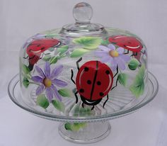 ladybug hand painted mailboxes | Hand Painted Cake Covers