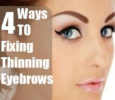 Tips On Fixing Thinning Eyebrows