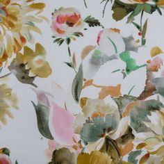 Hertex Fabrics - Pleasures Lemon Hertex Fabrics, Harvest Moon, Decorative Accessories, Furniture Decor, Upholstery, Interior Decorating, Shabby, Fancy, Lemon
