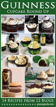 Cupcakes Take The Cake: Guinness Cupcake Round Up Baking Cupcakes, Cupcake Recipes, Cupcake Cakes, Dessert Recipes, Cupcake Ideas, Cup Cakes, Baking Recipes, Guinness Cupcakes, Guinness Cake