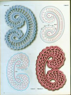 crochet beauty flowers and leaves motives   make handmade, crochet, craft