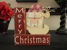 Merry Christmas Santa Blocks