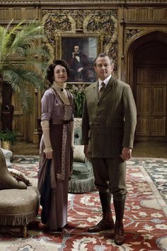 Downton Abbey - Countess Cora Crawley and Robert Crawley