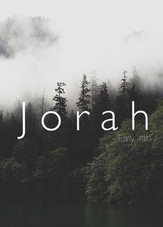 Jorah, early rain, boy, baby, man, male, strong baby names. Unique biblical names. Names that start with J .