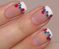 Frenchy Dots #fourthofjuly #nailart