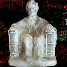 What it must have been like to be in his presence. #glassornaments #christmasornaments #christmas #polishornaments #lincoln #vintagetreasures