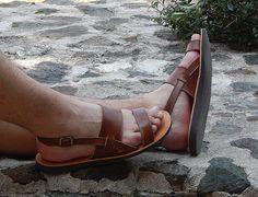 Handmade leather sandal PARIS ...... classic taba .....