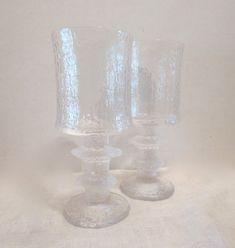 Pair of Timo Sarpaneva Senaattori Red Wine Goblets Wine Goblets, Cloud 9, Red Wine, Pairs, Glass, Etsy, Vintage, Drinkware, Corning Glass