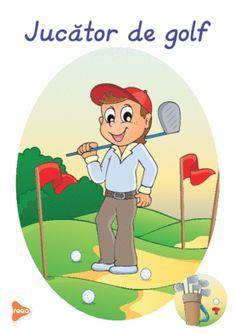 Ilustrații cu meserii și ocupații Teaching Weather, Golf, Design Case, Montessori, Preschool, Family Guy, Fictional Characters, Art, Bebe