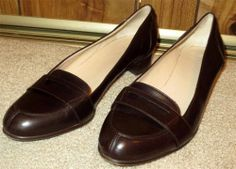 Woman's Gucci Brown Leather Penny Loafers Made in Italy Size 7 1/2 B Medium 7.5 #Gucci #LoafersMoccasins     Now $109.87