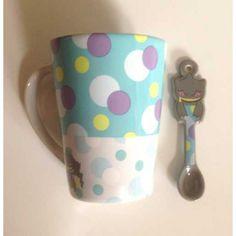 Pokemon Center 2013 Peeking Pokemon Campaign Banette Ceramic Mug and Spoon Set