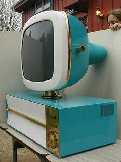 Teal Predicta Television Set