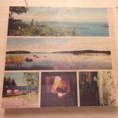 Kuva tulostettu puuhun.