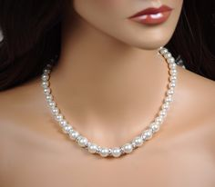 Classic Choker Necklace Use 'FSW' code to get FREE SHIPPING! See more here: http://seraphinecreations.com/collections/pearl-necklaces/products/classic-choker-necklace