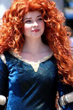 Merida.  Yup.  I'd probably cry if I met her.  ;)  She IS my favorite Disney heroine.