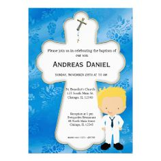 Sold this #cross #holycommunion boy invitation to United Kingdom. Thanks for you who purchased this.