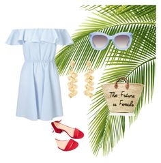 """Untitled #49"" by evachrisomalli-1 on Polyvore featuring Miss Selfridge, Express, Alice + Olivia and Kenneth Jay Lane"