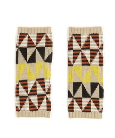 bright tribal fingerless gloves - perfect for typing during the cold months!