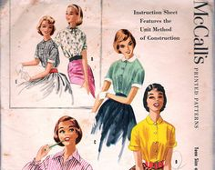 Vintage 1958 McCall's 4530 Teen Size and Junior by Recycledelic1