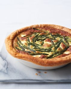 Asparagus Custard Tart - Martha Stewart Recipes